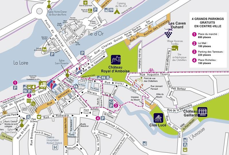 carte chateaux de la loire pdf Brochures & guides   Maps Amboise Val de Loire   Chateaux of the Loire